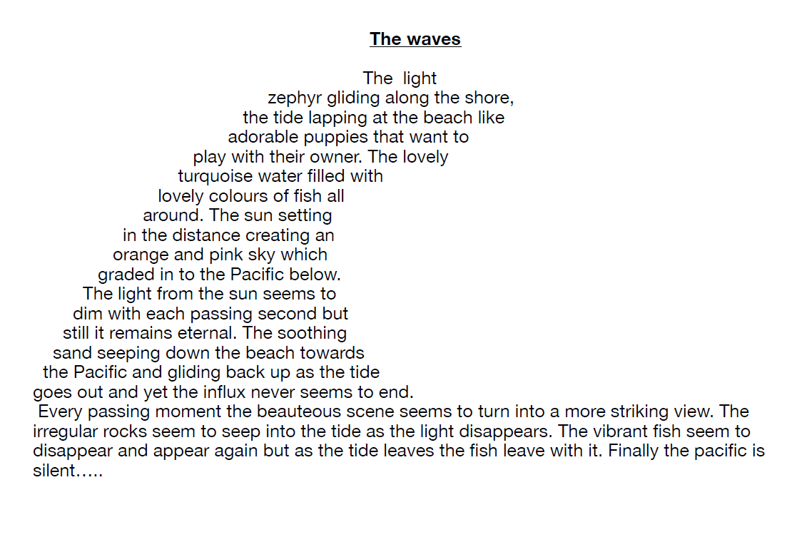 The Waves The Poetry Society Poems See more of donnas powms on facebook. the poetry society
